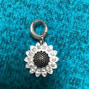 Vintage looking flower Fossil Charm!